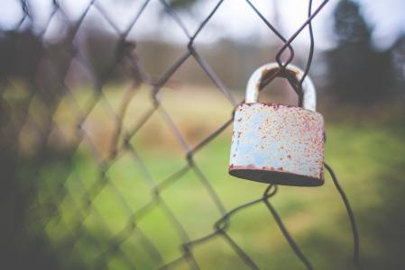 在篱芭的老锁