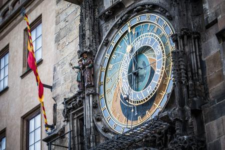 布拉格天文钟在老城广场