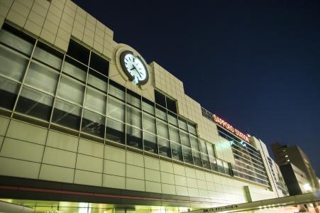 JR札幌站北出口免费股票照片