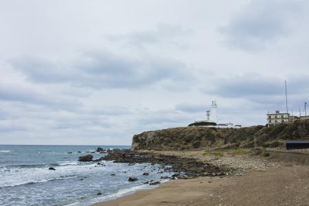 从Kim滨海岸可见的Inubozaki灯塔免费照片