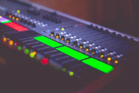 音响工程师的音乐音乐混合Pult
