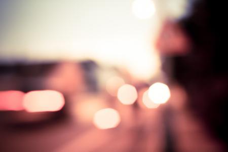 五颜六色的夜散景卷。
