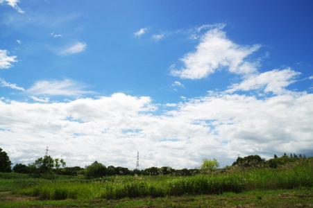 蓝色的天空和云免费图片