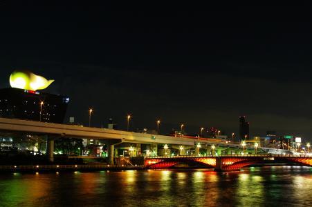 东京夜景(隅田川)的照片