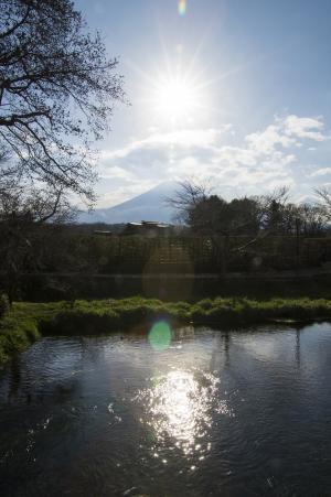 太阳和富士山免费股票照片