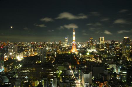 东京铁塔从世界贸易中心大楼免费股票照片