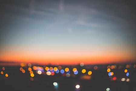 晚上日落景城市景观