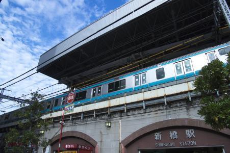 JR新桥站和京滨东北线免费股票照片