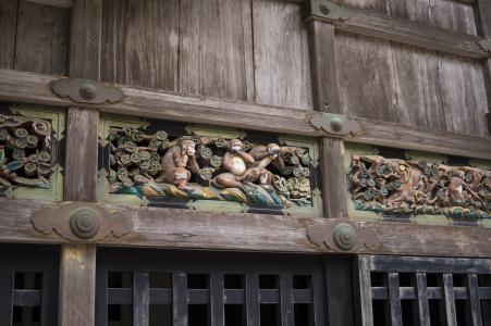 Mikuni Toshogu的三只猴子免费图片