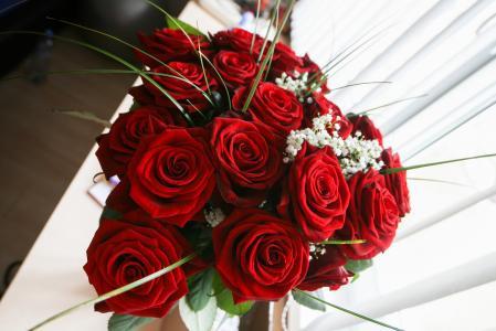 女孩爱玫瑰