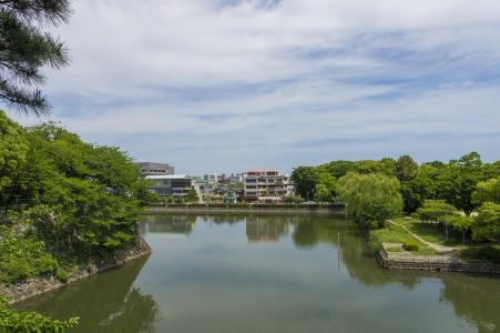 免费的名古屋城堡挖掘照片股票