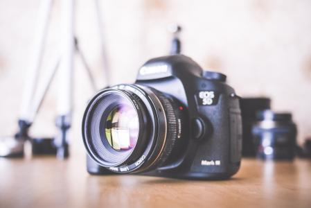大单反相机和设备