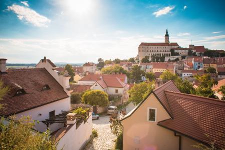 捷克共和国Mikulov奇妙的城市