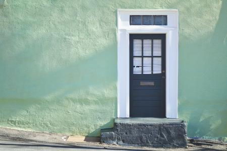 古色古香的住宅门