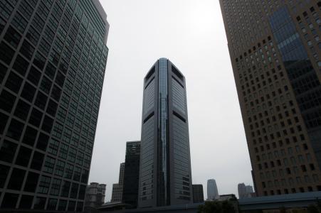 Shiodome免版税库存照片高层建筑物
