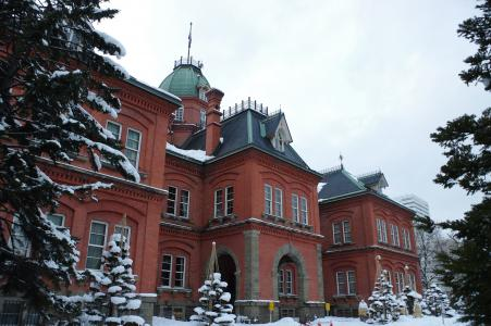 北海道政府前主政府大楼(红砖大楼)的免费照片