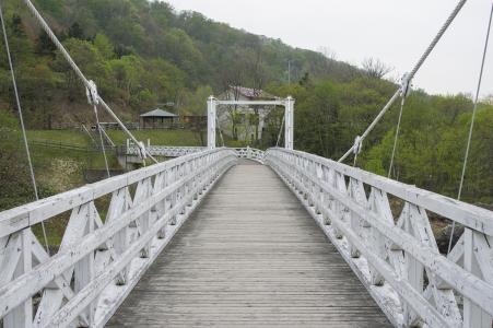 Kamii Kotan吊桥(Kamii Ohashi)的免费照片库存