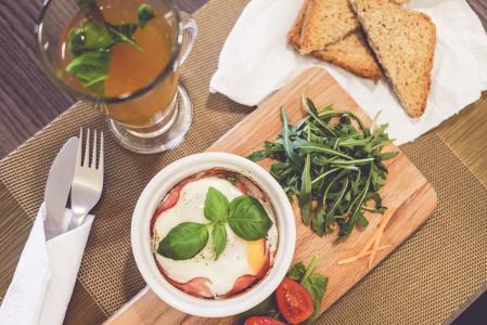 新鲜和健康的早餐