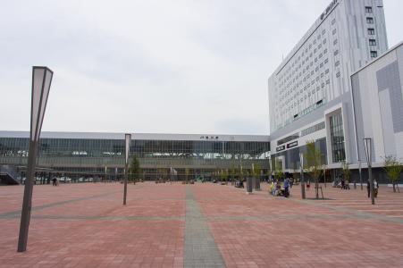 JR旭川站正面照片