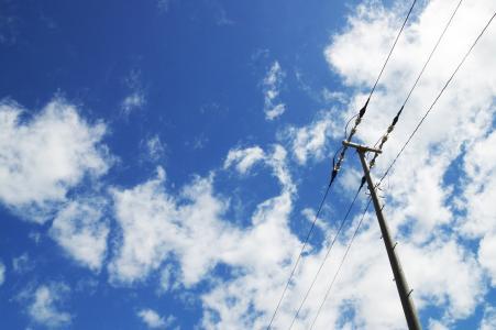 天空和电线免费股票照片