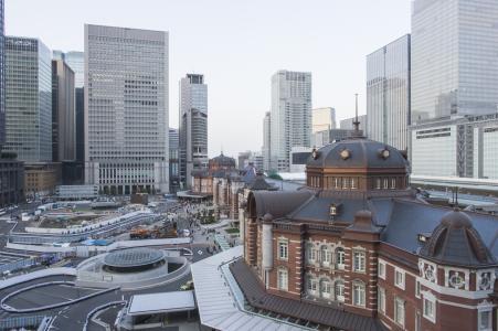 在东京站附近的免费图片