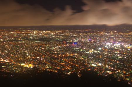 札幌(Mt. Moiwa)的夜景免费照片