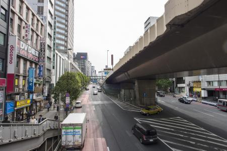 涩谷的街道和道路免费照片