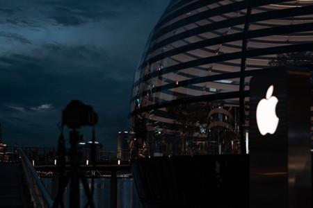 夜色下的苹果公司大楼
