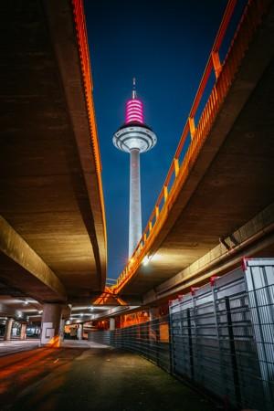 都市夜景长曝光图片
