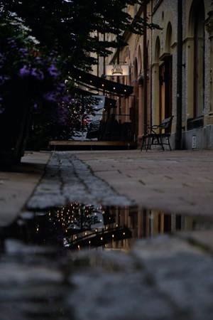 早晨清冷的街头