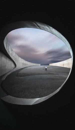 城市建筑极简主义摄影图
