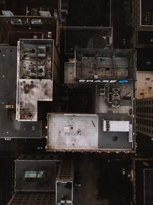 城市居民楼的航拍图