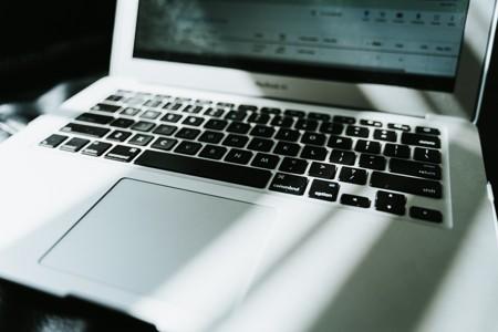 笔记本电脑的特写