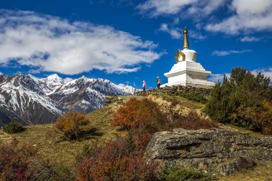 西藏来古冰川景致图片