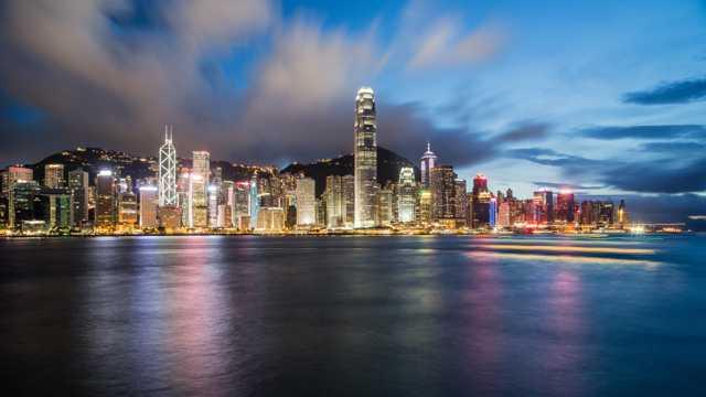 繁荣喧嚣的香港风景