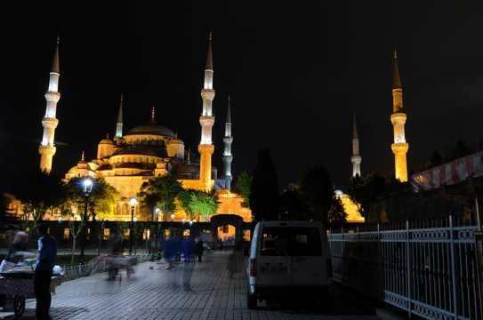 土耳其蓝色清真寺图片