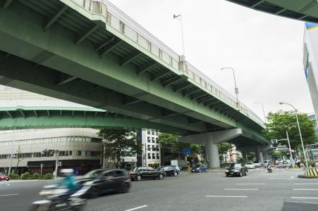 名古屋高速市中心免费路线图附近的环线