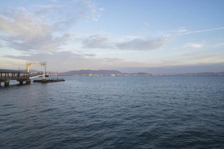 从海中看到的博多湾