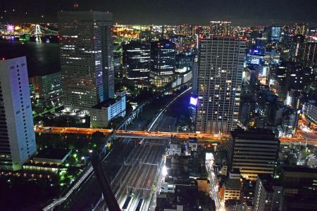 东京夜景从世界贸易中心大厦免费图片