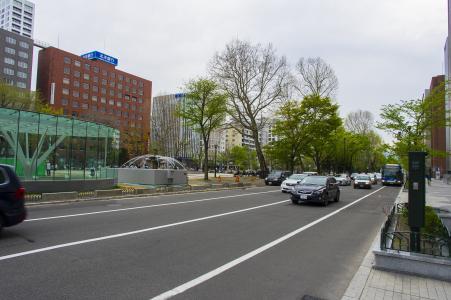 札幌大通公园附近的路免费照片