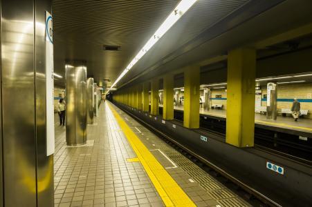 名古屋市营地铁鹤舞线Fushima Station Home免费库存照片