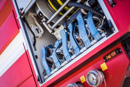 Fire Truck Equipment Close Up #2