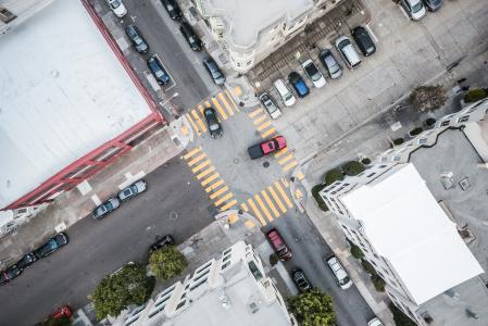 街道路口从上面