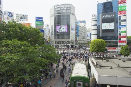 涩谷争夺路口免费照片