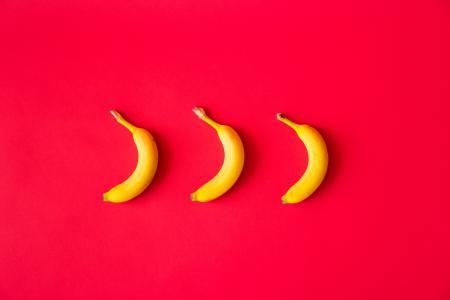 香蕉红平的背景
