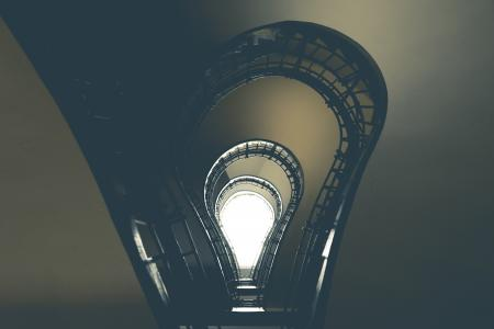 Lightbulb Stairs in House of the Black Madonna, Prague #2