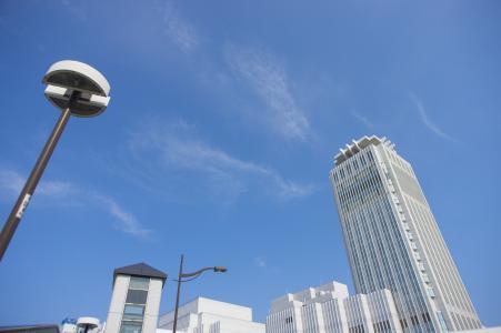 横须贺的街道和天空免费照片素材