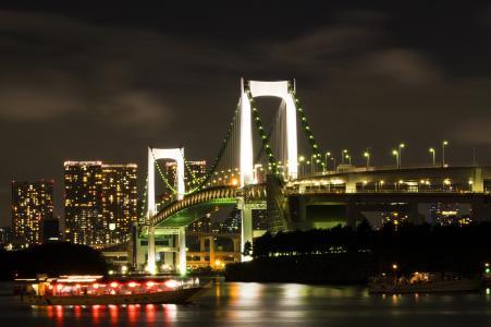 彩虹桥夜景免费照片
