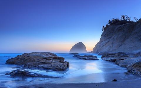 清晨的海岸