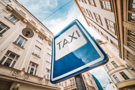 出租车城市道路标志